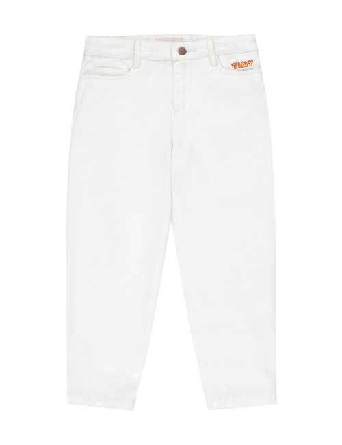 "[Tiny Cottons] ""TINY"" BAGGY JEANS _ off-white [4Y, 6Y, 8Y, 10Y, 12Y]"
