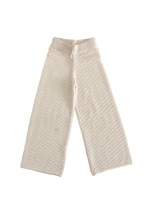 [LIILU] Knit pants _ Milk [2-4Y, 8-10Y]
