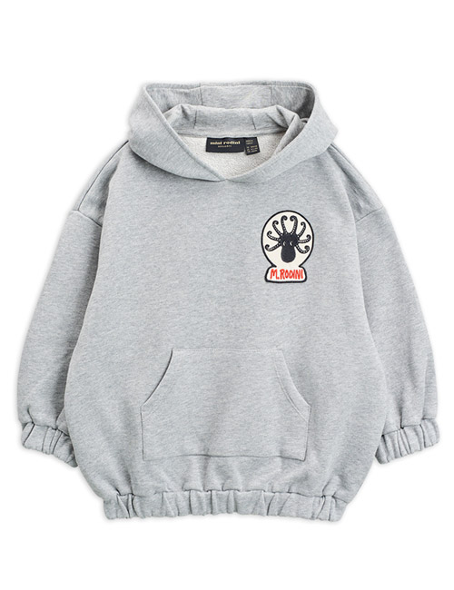 [MINIRODINI]Octopus patch hoodie Grey[80/86, 92/98, 128/134, 140/146]