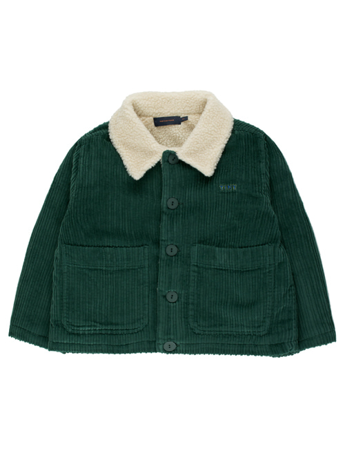 "[TINY COTTONS]  ""TINY"" SOLID JACKET _ dark green [4Y, 6Y, 10Y, 12Y]"