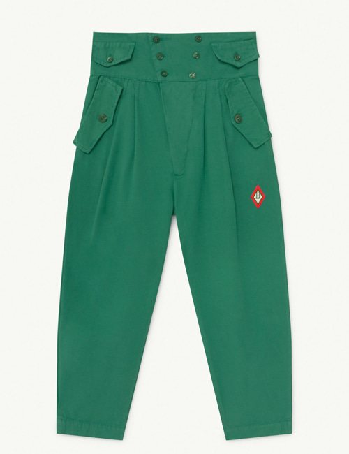 [T.A.O] CAMEL KIDS TROUSERS  GREEN LOGO [12Y]