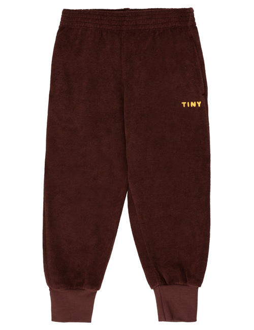 "[TINY COTTONS]  ""TINY"" SWEATPANT _ ultra brown/yellow [12Y]"