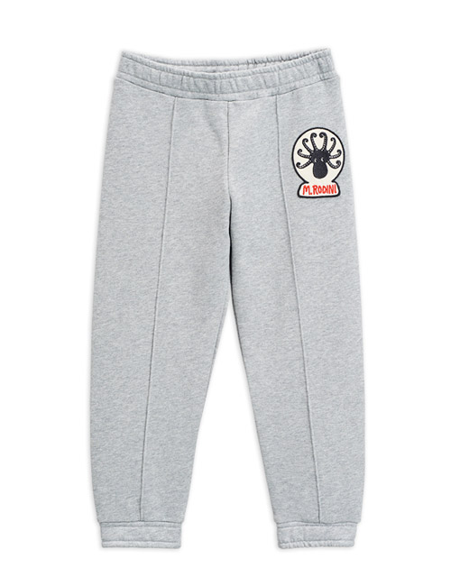 [MINIRODINI]Octopus patch sweatpants _ Grey[80/86, 92/98, 128/134, 140/146]