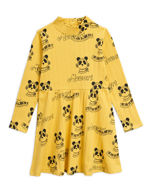 [MINIRODINI]Mozart aop ls dress_Yellow[92/98, 116/122]