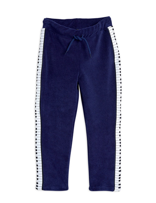 [MINI RODINI]Piano terry trousers_Navy [104/110, 116/122, 140/146]