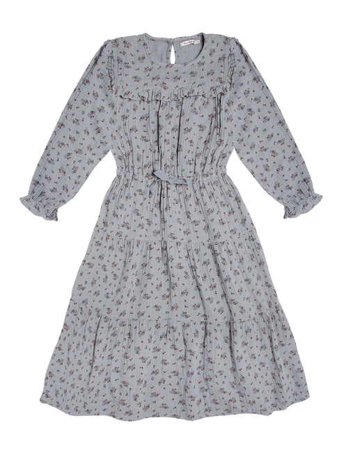 [THE NEW SOCIETY] SARAH DRESS _ SOFT BLUE FLOWERS[4Y,10Y]