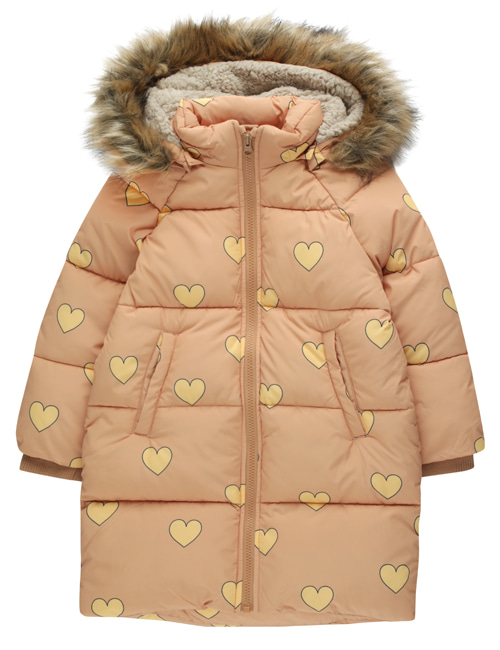 "[TINY COTTONS] ""HEARTS"" PADDED JACKET _ camel/yellow [2Y, 6Y, 8Y, 10Y, 12Y]"