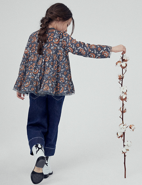 [THE NEW SOCIETY] PETUNIA BLOUSE _  HINDÚ BATIK [4Y, 6Y, 8Y, 10Y]