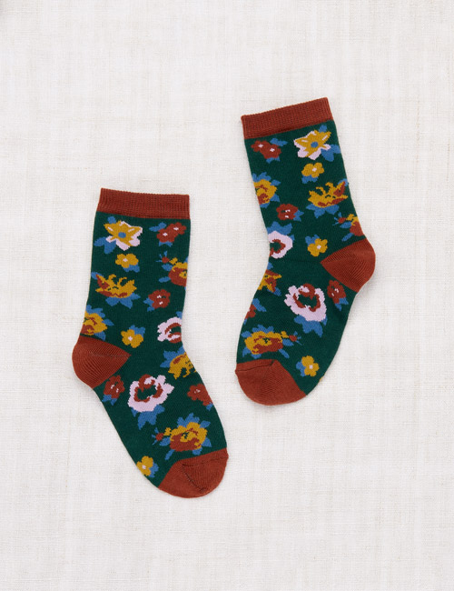 [MISHA AND PUFF]Brimfield Crew Socks _ Laurel [24/27, 28/31, 32/35]