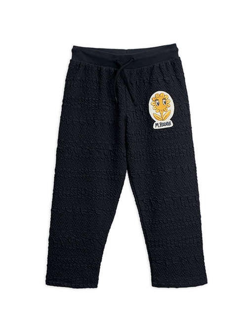 [MINI RODINI]Flower patch sweatpants _ Black[92/98, 116/122]