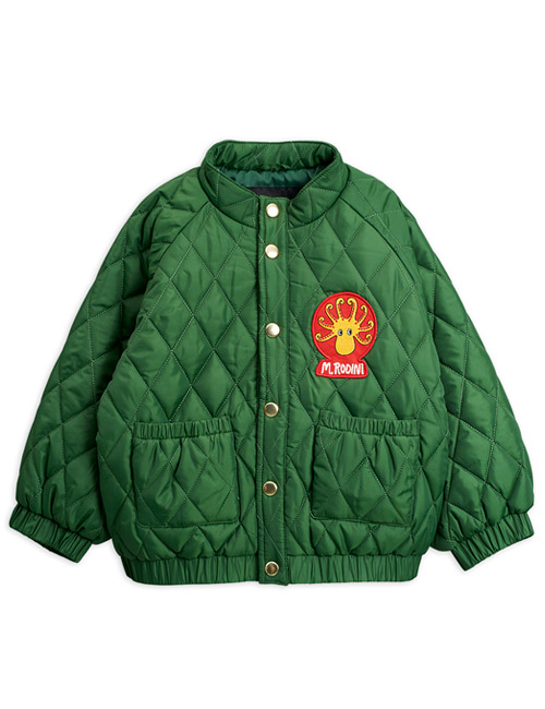 [MINI RODINI]Diamond quilted jacket_Dark green [92/98, 128/134, 140/146]