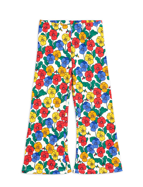[MINI RODINI]Violas flared trousers_Multi[140/146]