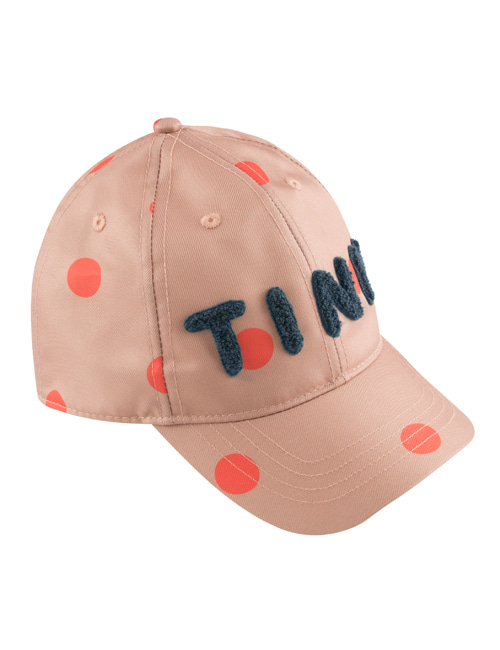 "[TINY COTTONS] ""BIG DOTS"" CAP _ tan/red [L (56/58)]"