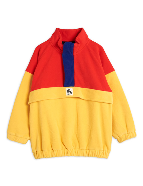 [MINI RODINI]Fleece zip pullover_Red [92/98, 128/134, 140/146]