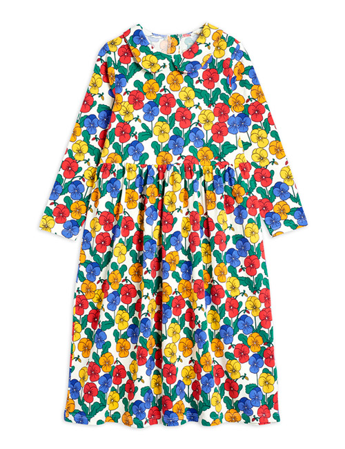 [MINI RODINI]Violas ls collar dress_Multi[140/146]