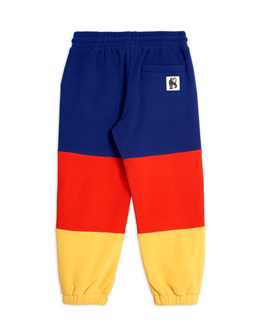 [MINI RODINI]Fleece panel trousers_Blue[92/98, 104/110, 116/122, 128/134, 140/146]