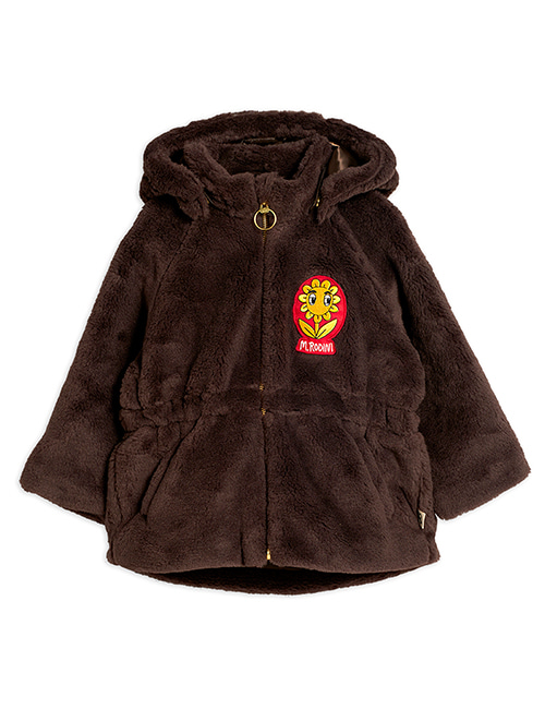 [MINI RODINI]Faux fur parka _ Brown[104/110, 116/122, 128/134]