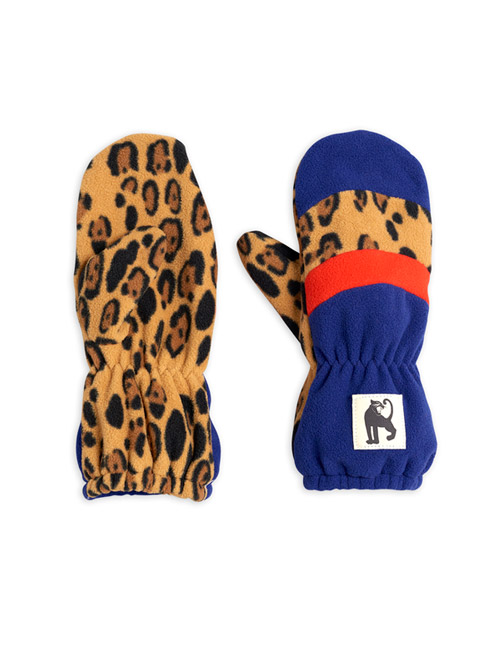 [MINI RODINI]Fleece mittens stripe_Blue[9M/2Y, 2Y/5Y, 5Y/8Y, 8Y/11Y]