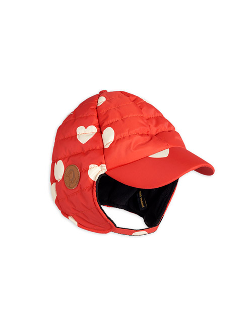 [MINI RODINI]Insulator hearts cap _ Red[52/54]
