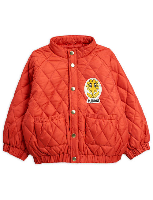 [MINI RODINI]Diamond quilted jacket_Red[80/86, 92/98, 128/134, 140/146]
