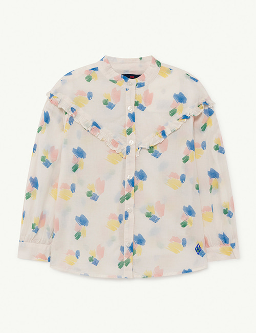 [T.A.O]  CUCKOO KIDS BLOUSE _ White Strokes