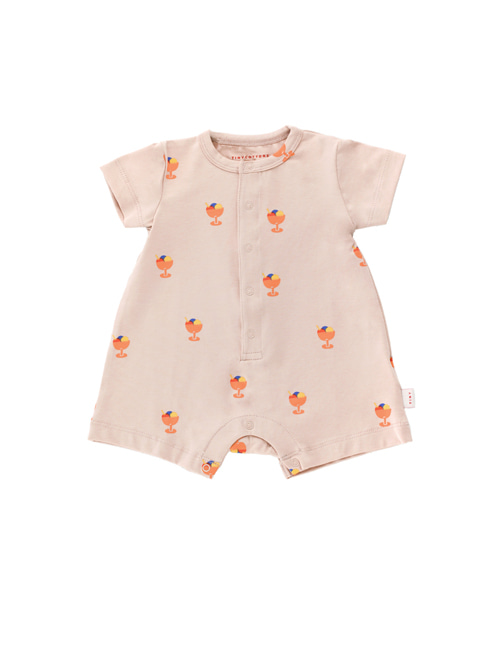 [TINY COTTONS]  ICE CREAM CUP ONE-PIECE _ dusty pink/light papaya