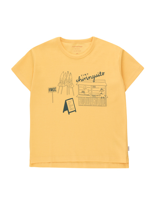 [TINY COTTONS]  CENTRAL BEACH TEE _ yellow/dark teal