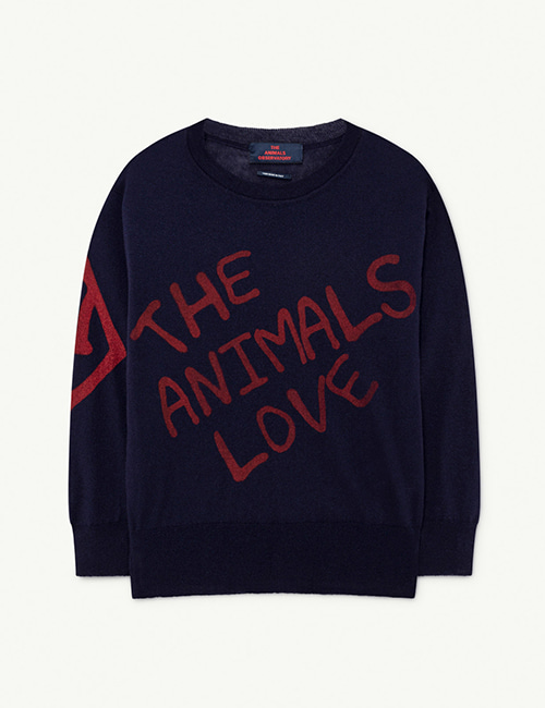 [T.A.O]  BULL KIDS+ SWEATER _ Navy The Animals